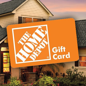 in a $200 Home Depot Gift Card